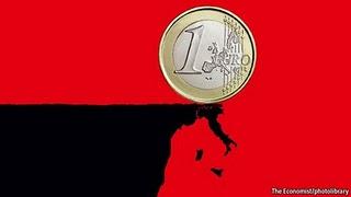 το ευρω στο χειλοσ του γκρεμου