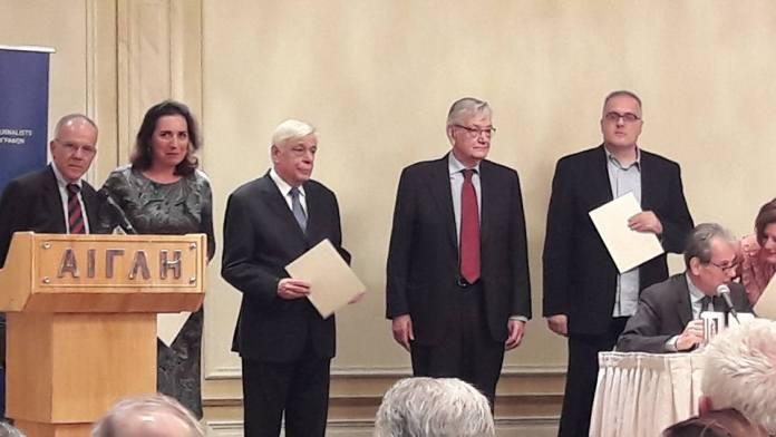 τελετη απονομησ δημοσιογραφικων βραβειων «κωνσταντινοσ καλλιγασ»