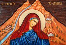 """Ο Θανάσης Κ. σημειώνει ότι η Παναγία πέρασε στο υποσυνείδητο των Ελλήνων ως η μορφή της γυναίκας που κρατά το Θείο Βρέφος, αλλά και ως η """"αιώνια Μάνα"""" και η """"υπέρμαχος στρατηγός"""". Κι εμείς οι Έλληνες δεν χάνουμε ποτέ την μάνα μας! new deal"""
