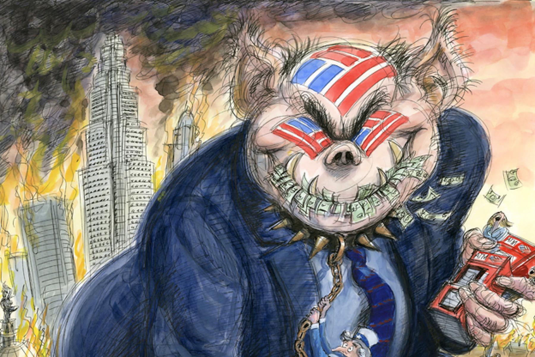 """Ο Ηλίας Καραβόλιας εξηγεί πως ο κορωνοϊός έγινε αφορμή για να μοχλευθεί ο καπιταλισμός. Πως οι κυβερνήσεις σε συμπαιγνία με τις τράπεζες διασώζουν τις μεγάλες εταιρίες. Και πως οι """"πρωταθλητές"""" θα κάνουν επέκταση με το (νέο) χρέος των φορολογουμένων. new deal"""