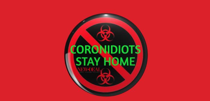 Ο Λουκάς Γεωργιάδης επισημαίνει την γαϊδουριά που επιδεικνύουν ορισμένοι coronidiots στο τρόπο αντιμετώπισης του Covid 19 και δεν έχει γιατρειά. Μια στάση ανεύθυνη και αντικοινωνική που βλάπτει σοβαρά και την υγεία των συμπολιτών μας και την οικονομία συνολικά. new deal